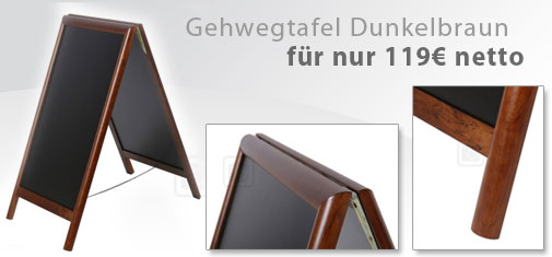 Plakataufsteller-Dunkelbraun