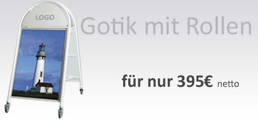 Plakataufsteller-Gotik