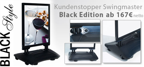 Plakataufsteller-Swingmaster-black
